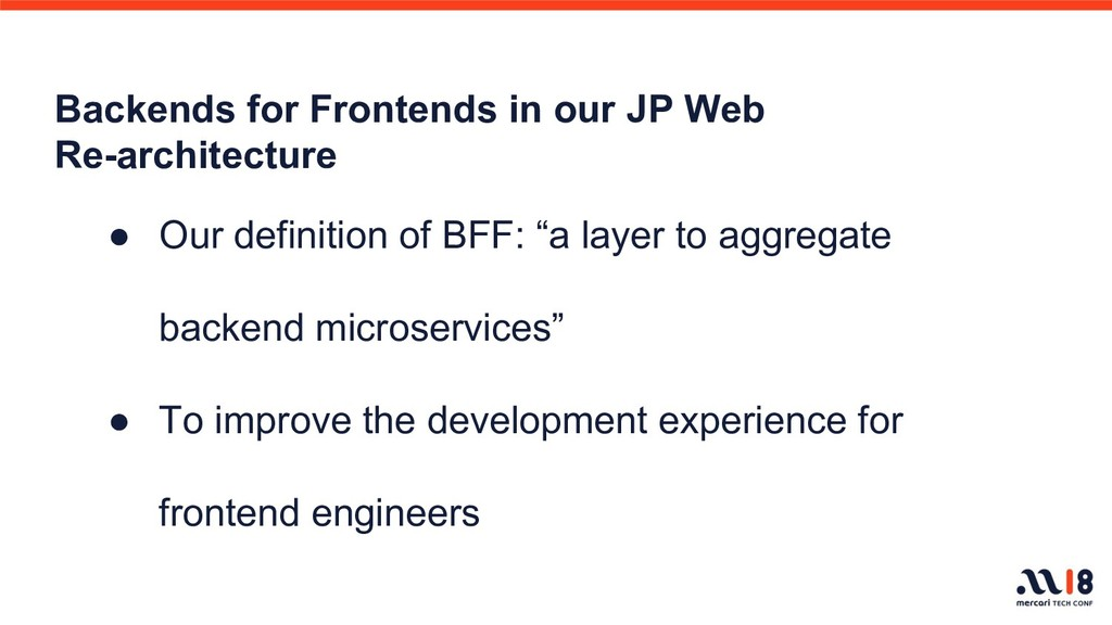 Backends for Frontends in our JP Web Re-archite...