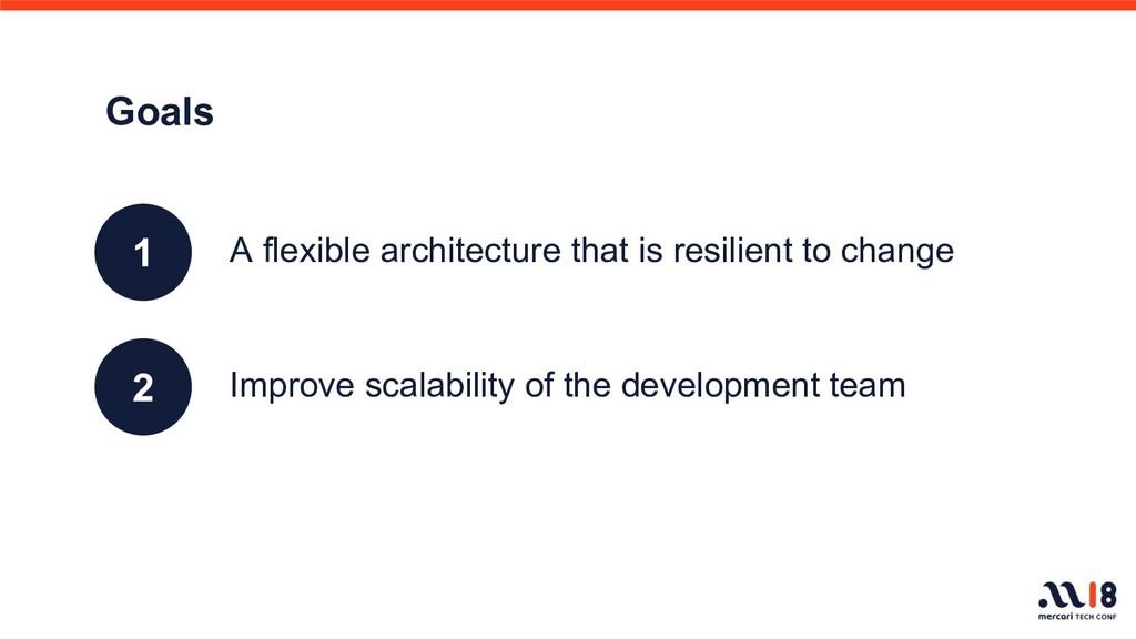 Improve scalability of the development team Goa...