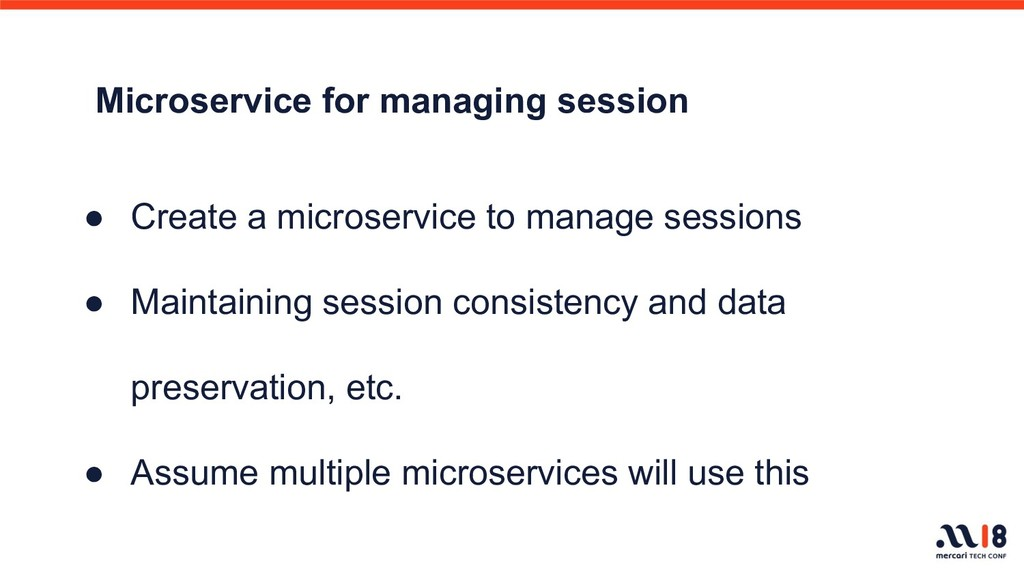 Microservice for managing session ● Create a mi...