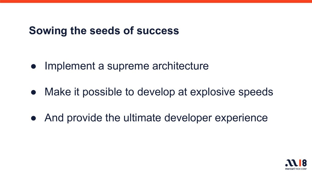 Sowing the seeds of success ● Implement a supre...