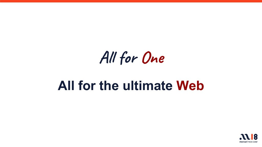 Al or One All for the ultimate Web