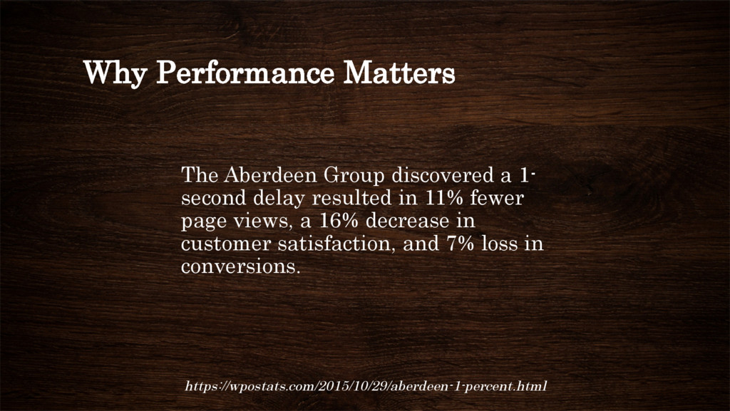Why Performance Matters The Aberdeen Group disc...