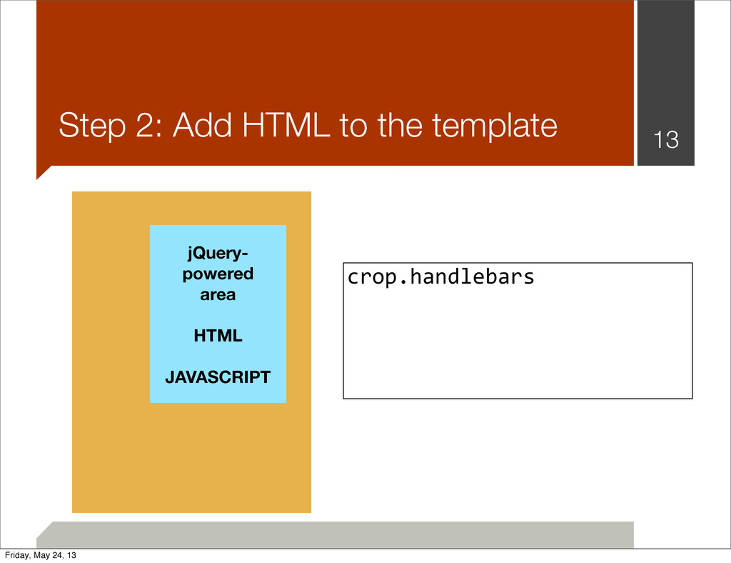 Step 2: Add HTML to the template 13 jQuery- pow...