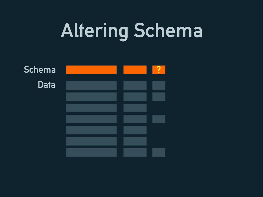 Altering Schema Schema Data ?