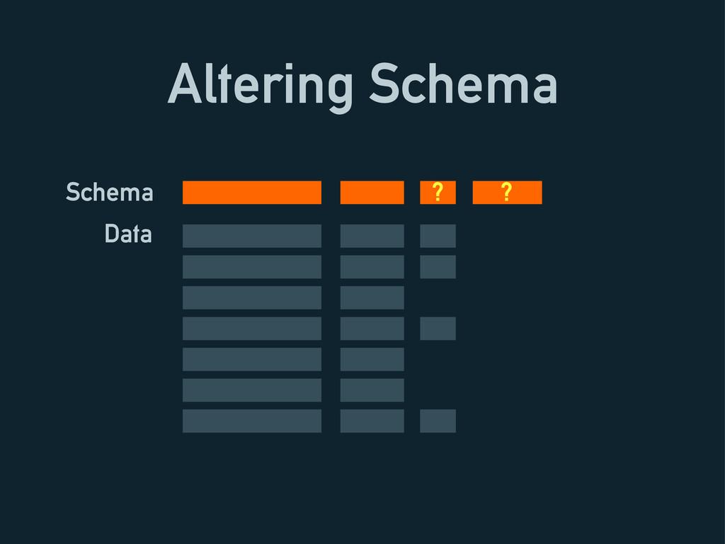 Altering Schema Schema Data ? ?