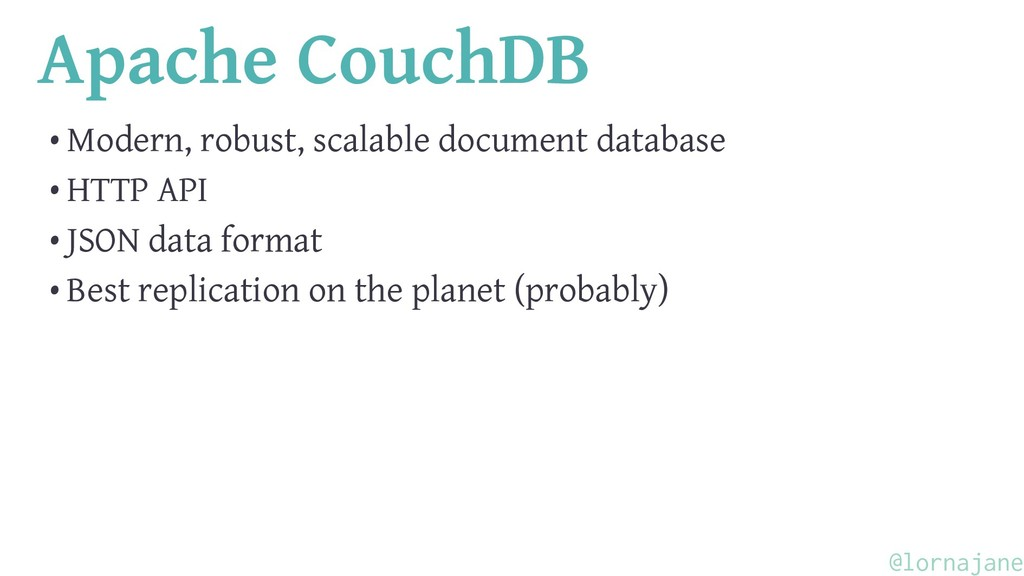 Apache CouchDB • Modern, robust, scalable docum...