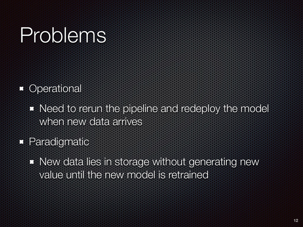 Problems Operational Need to rerun the pipeline...