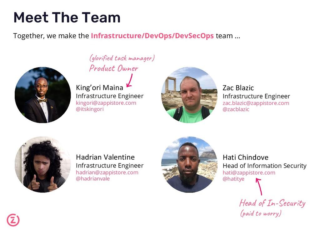 Meet The Team Together, we make the Infrastruct...