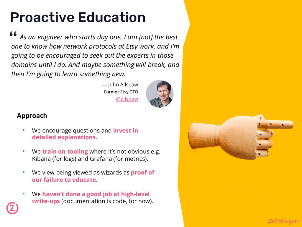 Proactive Education @itskingori Approach • We e...
