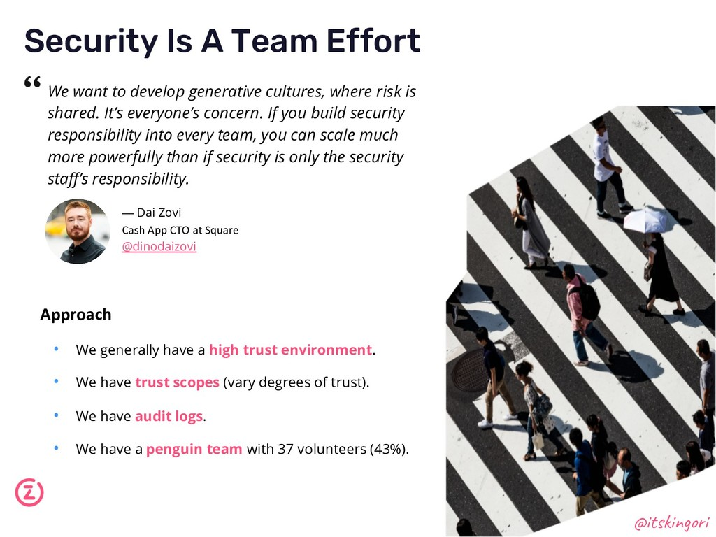 Security Is A Team Effort @itskingori We want t...