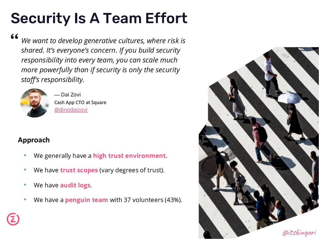 Security Is A Team Effort @itskingori We want t...