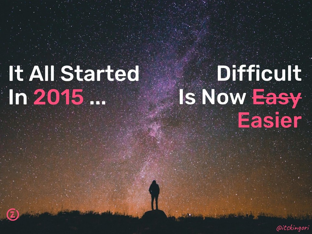 Difficult Is Now Easy Easier It All Started In ...