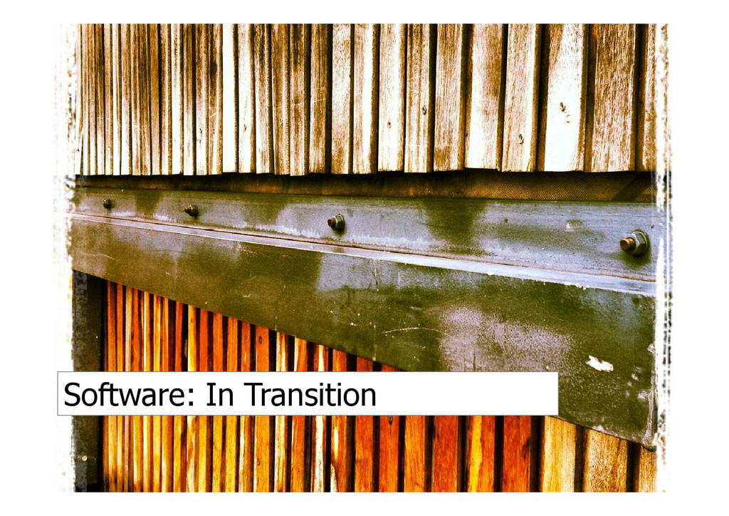 Software: In Transition