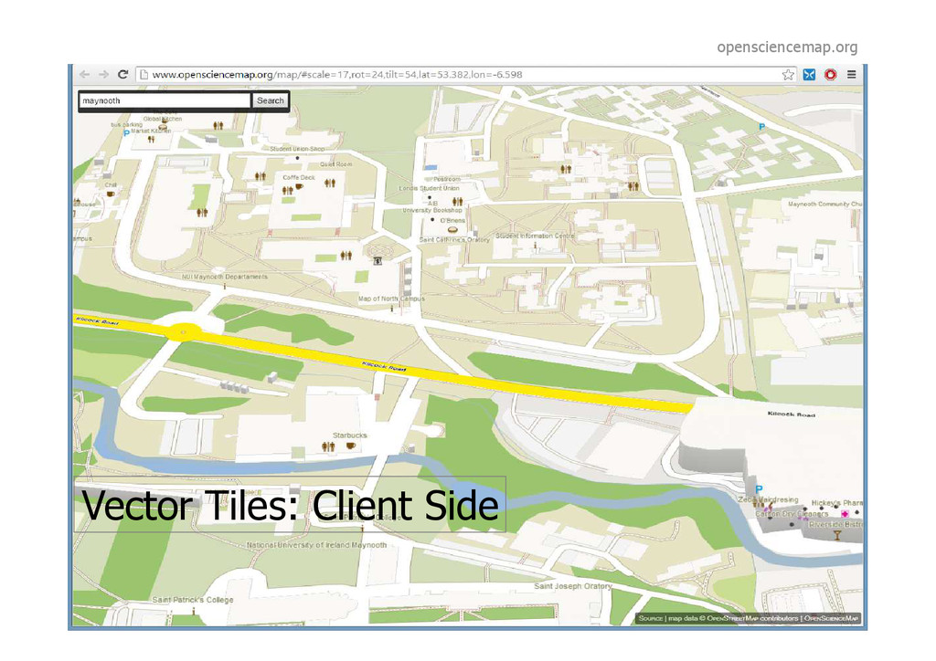 Vector Tiles: Client Side opensciencemap.org