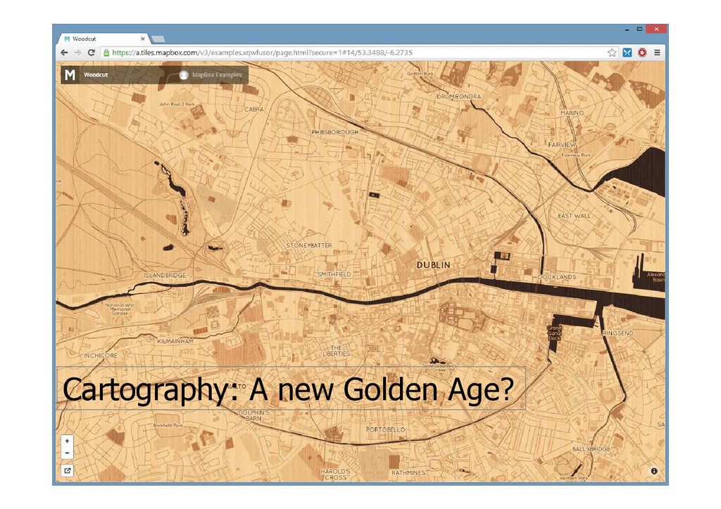 Cartography: A new Golden Age?
