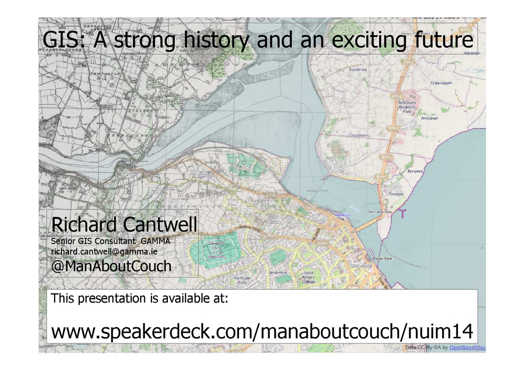 GIS: A strong history and an exciting future Ri...
