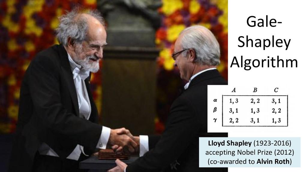 Gale- Shapley Algorithm Lloyd Shapley (1923-201...