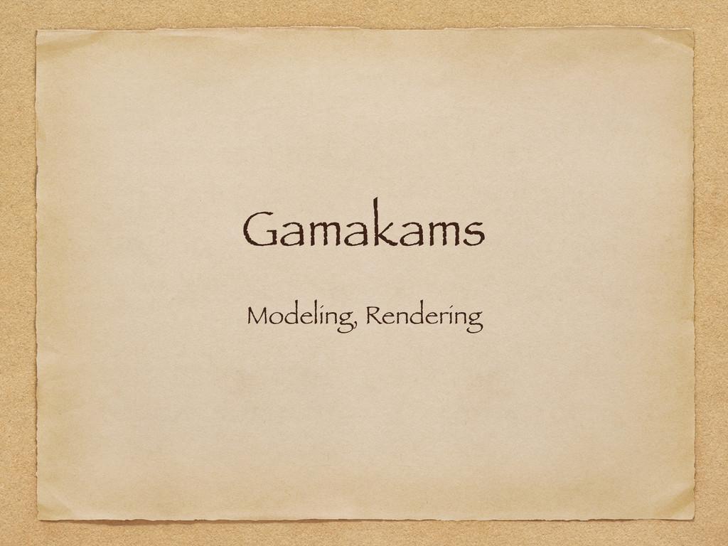 Gamakams Modeling, Rendering