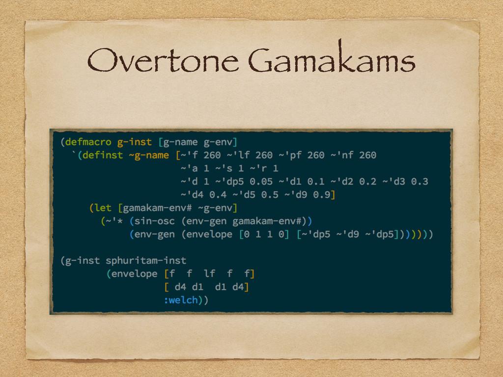 Overtone Gamakams