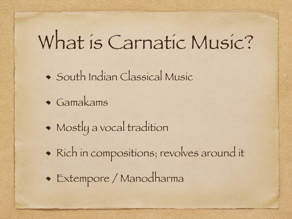 What is Carnatic Music? South Indian Classical ...