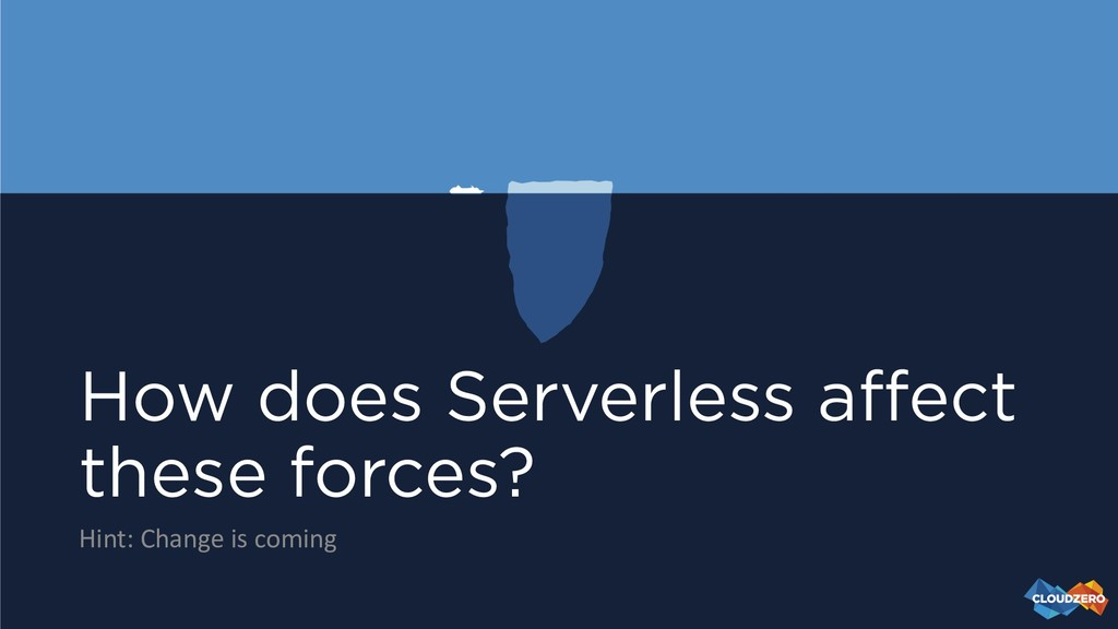 How does Serverless affect these forces? Hint: ...