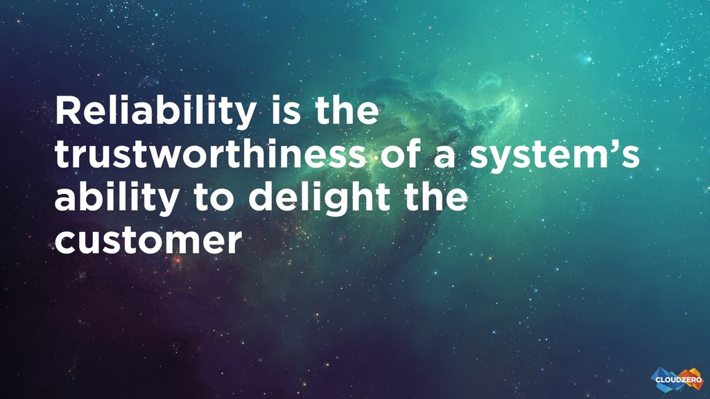 Reliability is the trustworthiness of a system'...