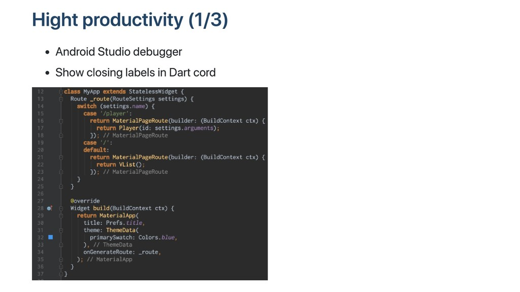 Hight productivity (1/3) Android Studio debugge...