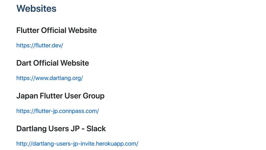 Websites Flutter Official Website https://flutt...