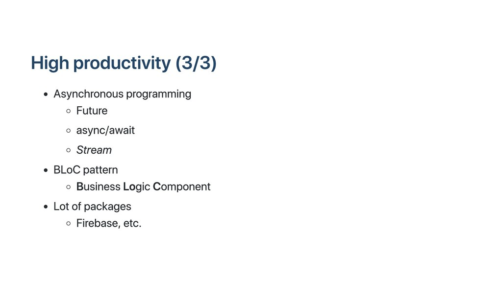 High productivity (3/3) Asynchronous programmin...