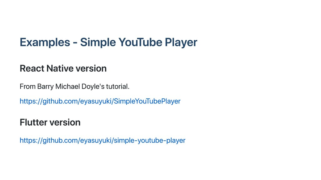 Examples ‑ Simple YouTube Player React Native v...