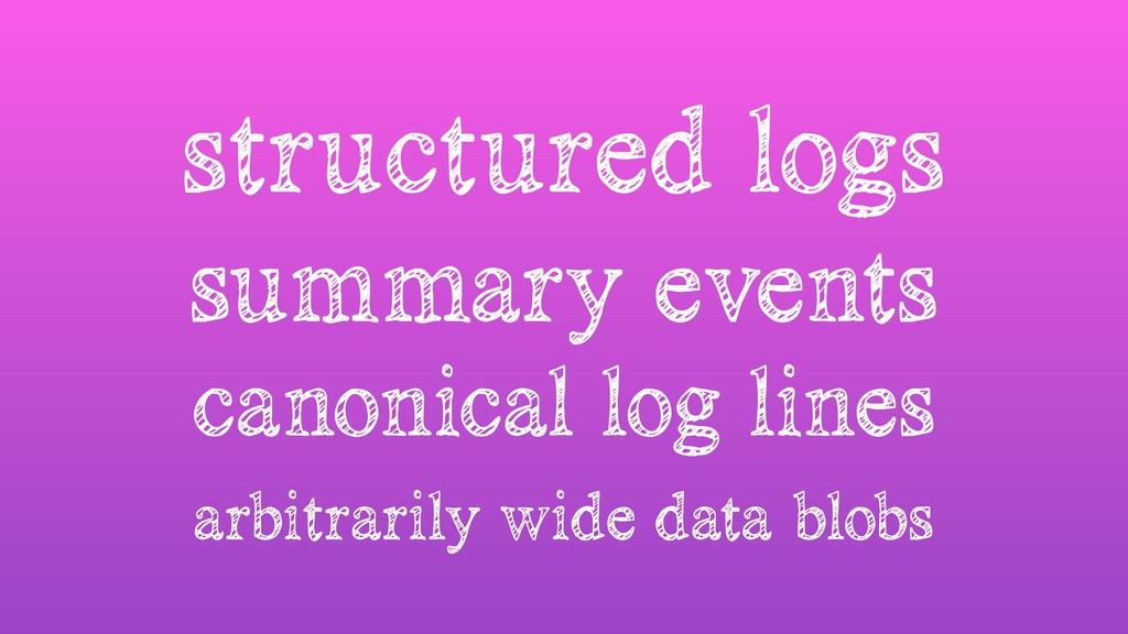 structured logs summary events canonical log li...