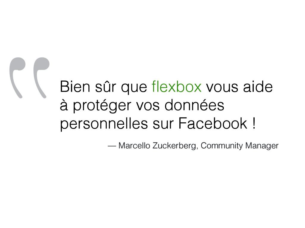 """""""Bien sûr que flexbox vous aide à protéger vos d..."""