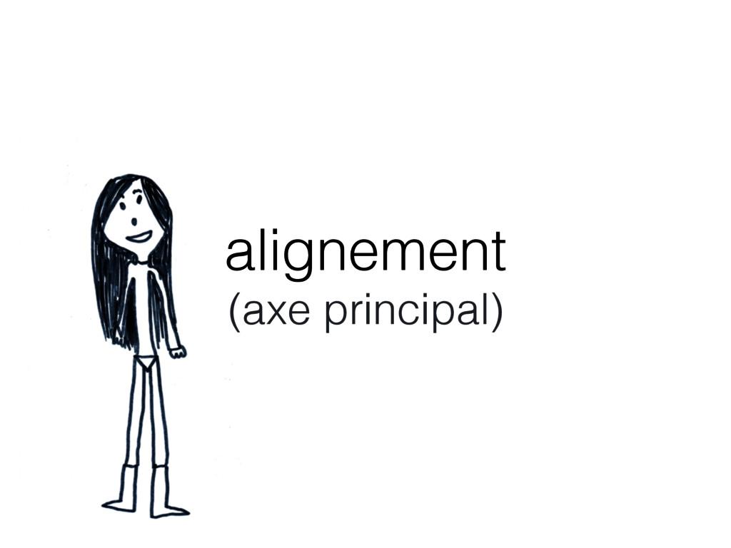 alignement (axe principal)