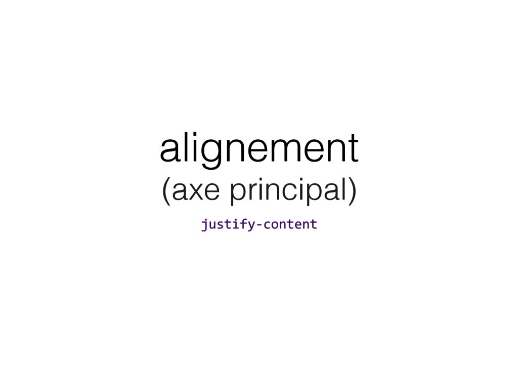 alignement
