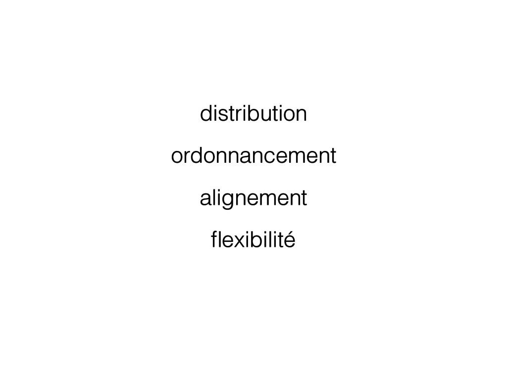 distribution ordonnancement alignement flexibili...