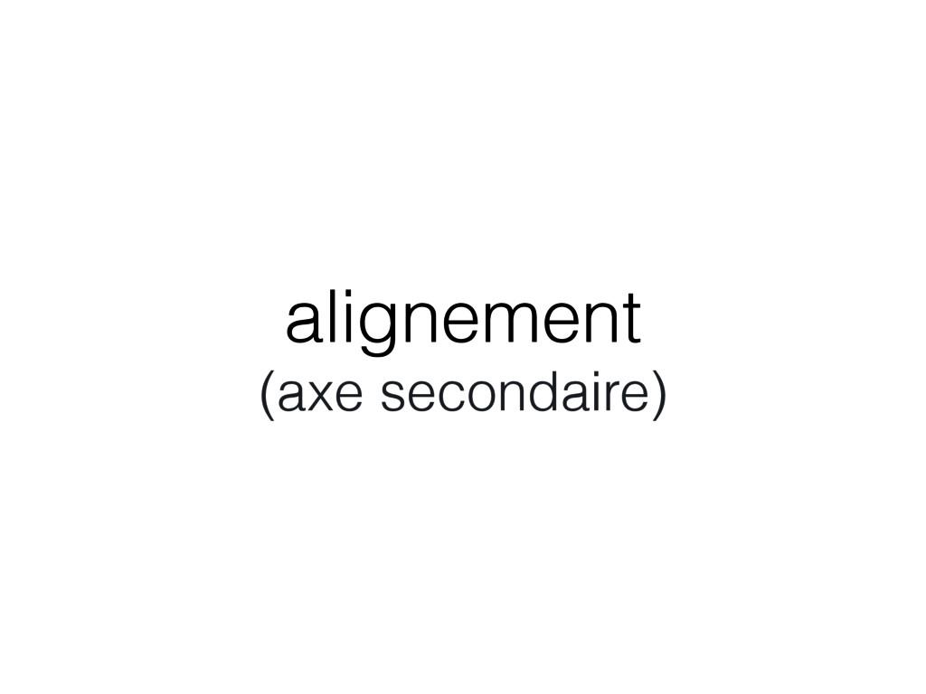 alignement (axe secondaire)