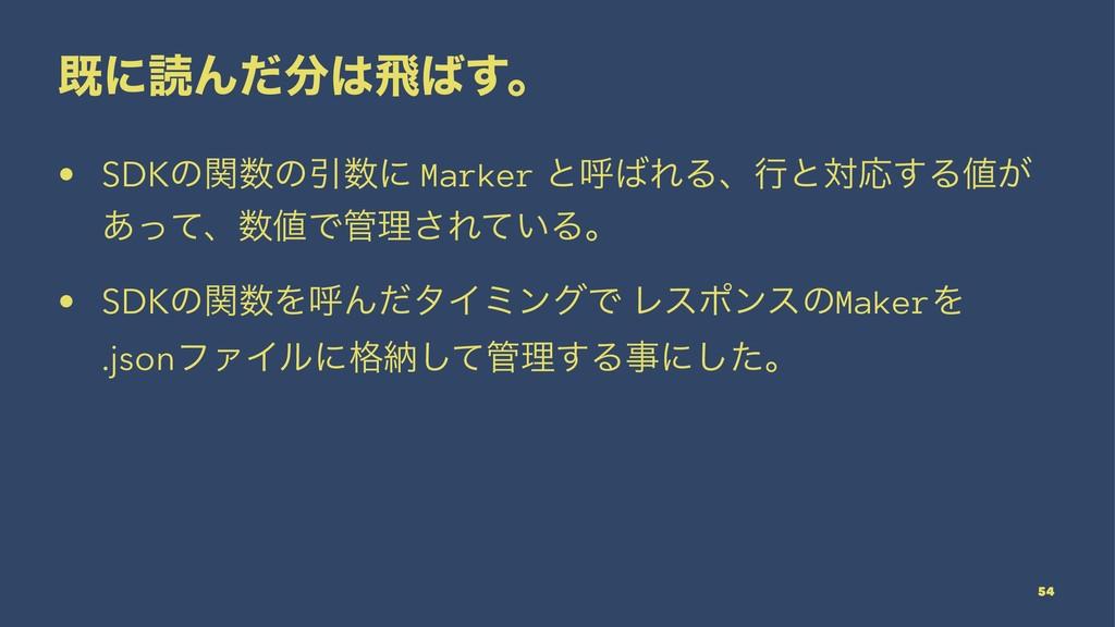 طʹಡΜͩඈ͢ɻ • SDKͷؔͷҾʹ Marker ͱݺΕΔɺߦͱରԠ͢Δ͕ ...