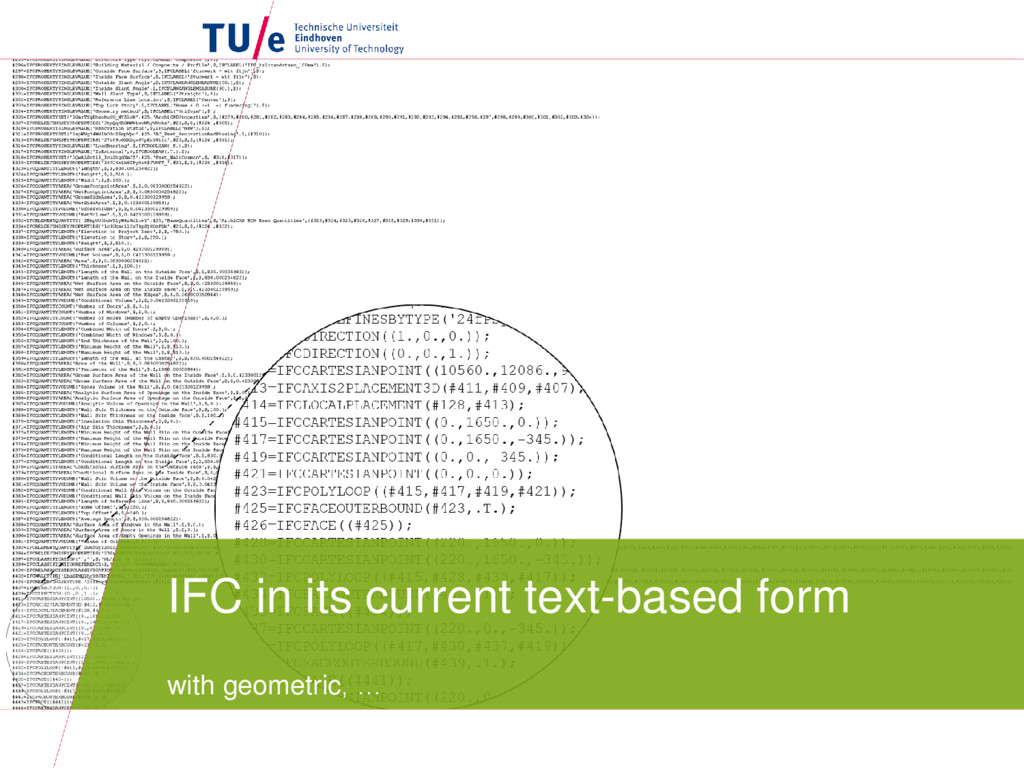 IFC in its current text-based form with geometr...