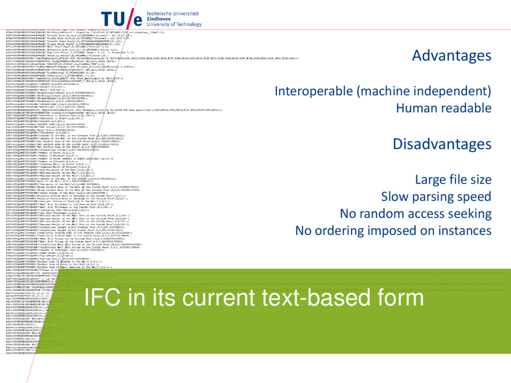 IFC in its current text-based form Advantages I...