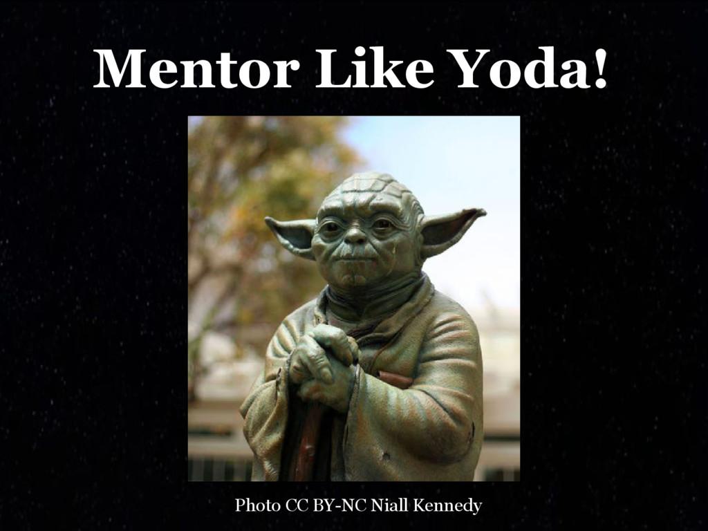 Mentor Like Yoda! Photo CC BY-NC Niall Kennedy