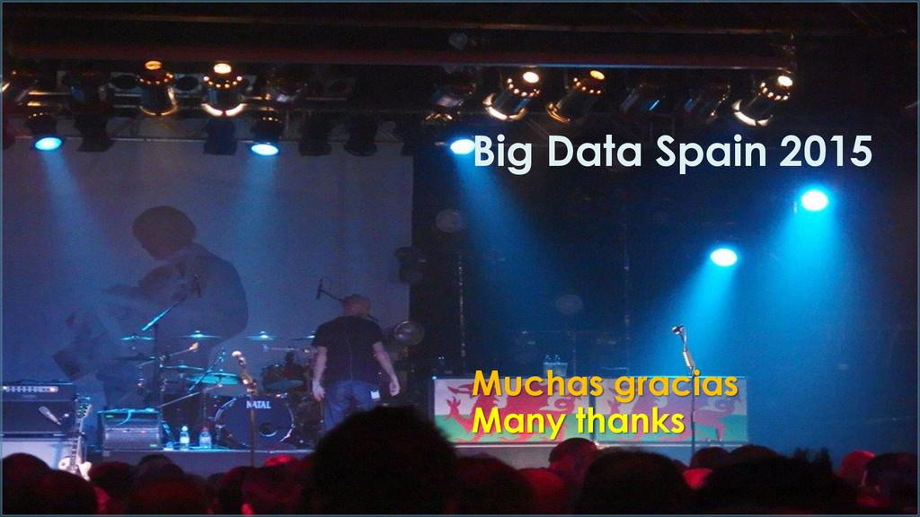 Muchas gracias Many thanks Big Data Spain 2015