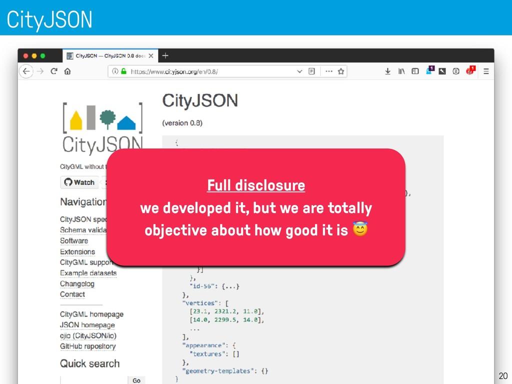 CityJSON 20 Full disclosure we developed it, bu...
