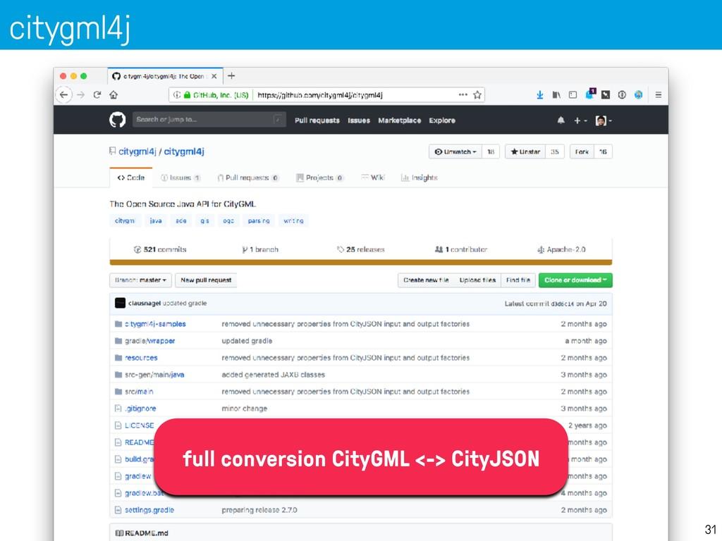 citygml4j 31 full conversion CityGML <-> CityJS...