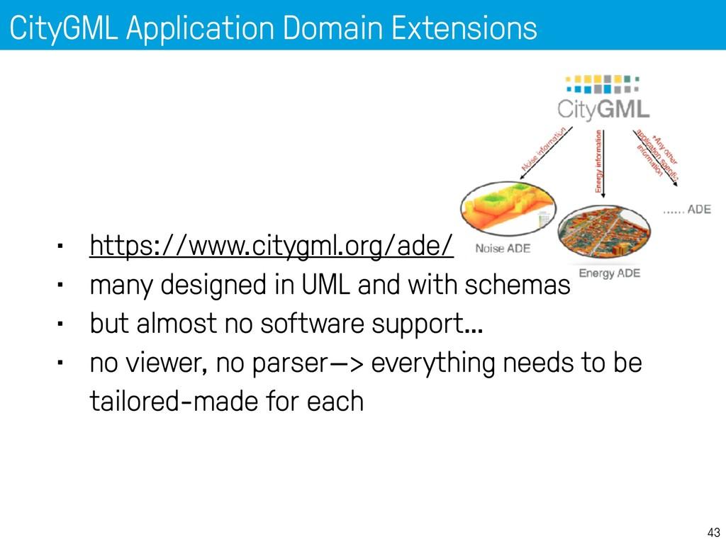 CityGML Application Domain Extensions 43 • http...