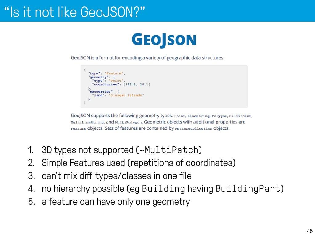 """""""Is it not like GeoJSON?"""" 46 1. 3D types not su..."""