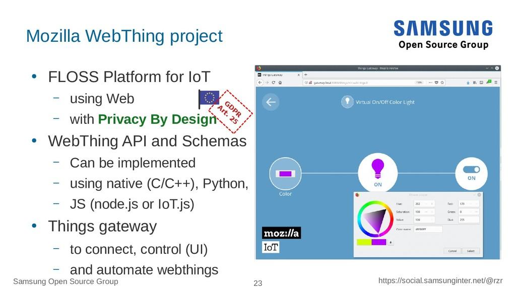 Samsung Open Source Group 23 https://social.sam...