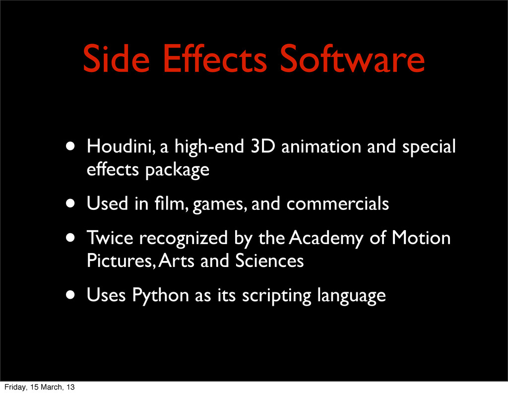 Side Effects Software • Houdini, a high-end 3D ...