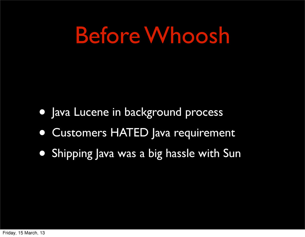 Before Whoosh • Java Lucene in background proce...
