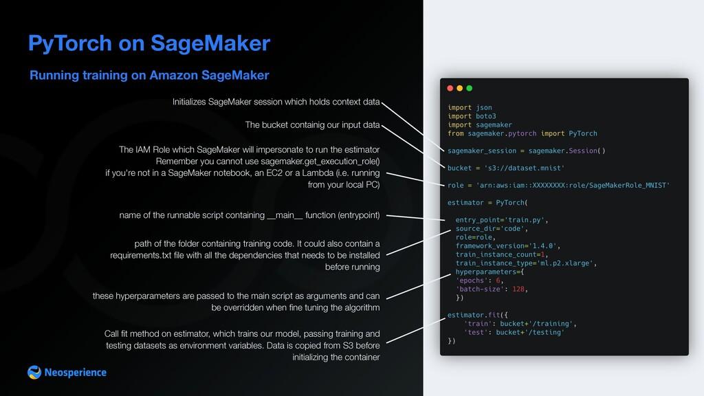 Running training on Amazon SageMaker PyTorch on...
