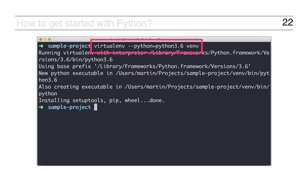 22 How to get started with Python?